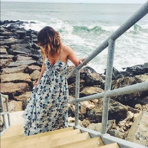 Free People Floral Criss Cross Maxi